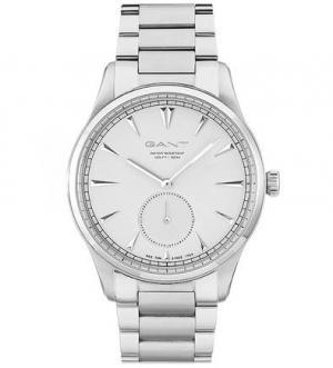 Часы серебристым металлическим браслетом Gant