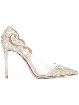 Туфли с заостренным носком Le Silla. Цвет: металлический
