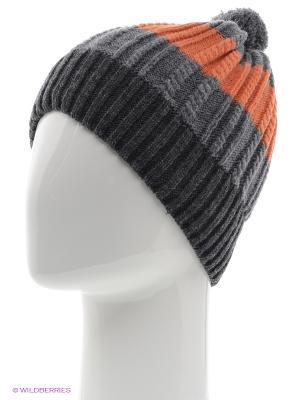 Шапка FOMAS. Цвет: серый, оранжевый