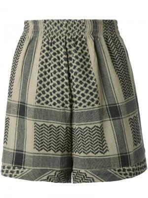 Жаккардовые шорты Cecilie Copenhagen. Цвет: чёрный