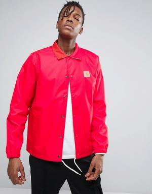 Carhartt Спортивная куртка WIP Watch. Цвет: красный