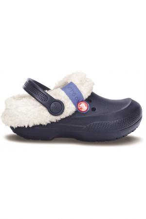 Сабо Crocs. Цвет: синий, белый
