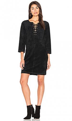 Платье raleigh Velvet by Graham & Spencer. Цвет: черный
