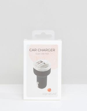 SIGNATURE Автомобильное зарядное устройство для телефона. Цвет: серый