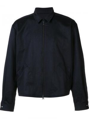 Куртка на молнии с вышивкой спине Death To Tennis. Цвет: синий