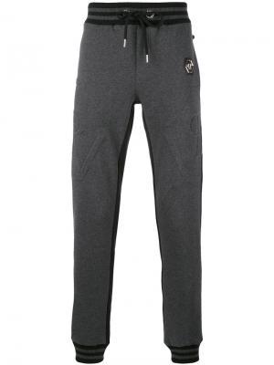 Классические спортивные брюки Philipp Plein. Цвет: серый