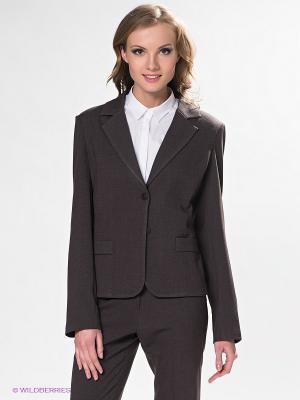 Пиджак DRS Deerose. Цвет: коричневый