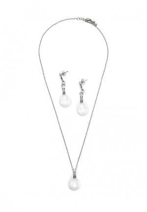 Комплект серьги и подвеска Art-Silver. Цвет: серебряный
