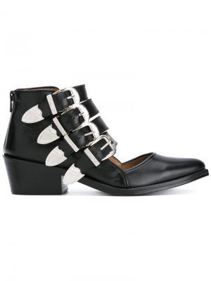 Ботинки с несколькими ремешками Toga Pulla. Цвет: чёрный