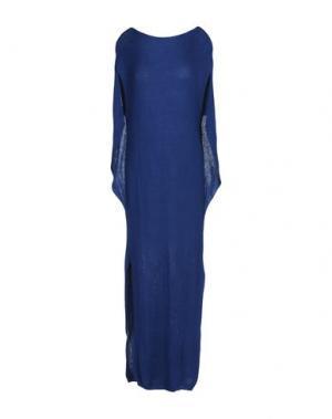 Длинное платье VANDA CATUCCI. Цвет: темно-синий