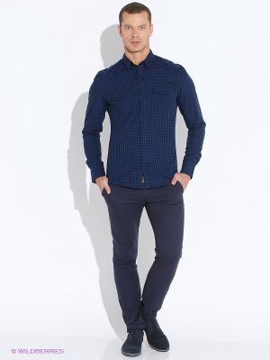 Рубашка Oodji. Цвет: темно-синий, черный