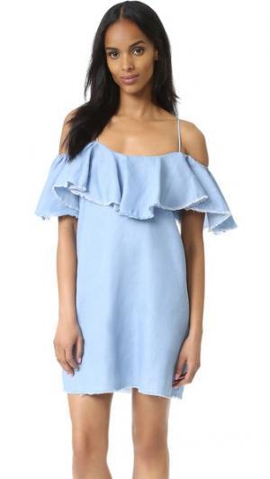Платье Emil MISA. Цвет: деним