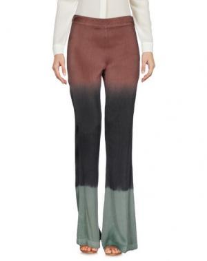 Повседневные брюки LÍO de FALDAS. Цвет: коричневый