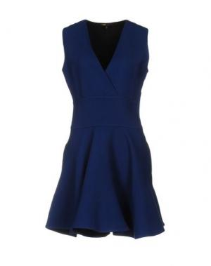 Короткое платье MAJE. Цвет: синий
