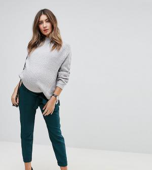 ASOS Maternity Брюки-галифе с поясом оби. Цвет: зеленый