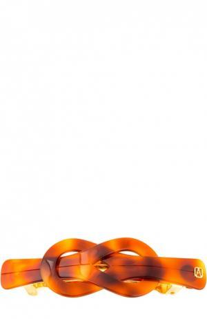 Заколка-автомат Medium Classic Knot Alexandre De Paris. Цвет: коричневый