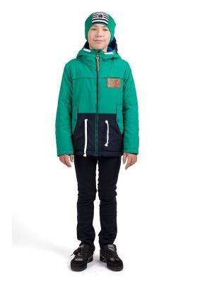 Куртки ШАЛУНЫ. Цвет: зеленый