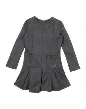 Платье LILI GAUFRETTE. Цвет: стальной серый