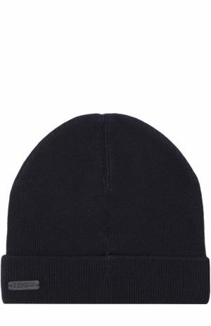 Шерстяная шапка бини Z Zegna. Цвет: темно-синий