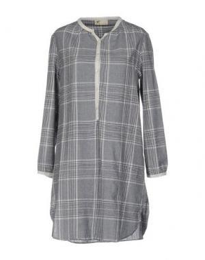 Короткое платье LOCAL APPAREL. Цвет: грифельно-синий