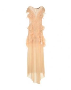 Длинное платье ELISABETTA FRANCHI. Цвет: бежевый