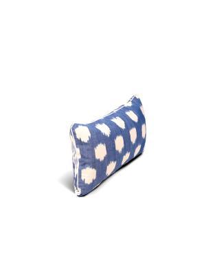 Чехол на подушку декоративныйIkat Long 35*60см RAWEDGE. Цвет: синий