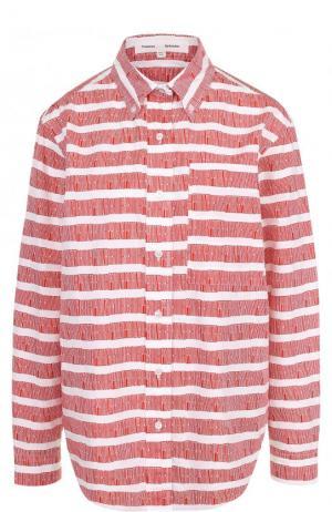Хлопковая блуза свободного кроя Proenza Schouler. Цвет: красный