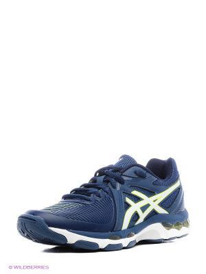 Спортивная обувь GEL-NETBURNER BALLISTIC ASICS. Цвет: синий, желтый, белый