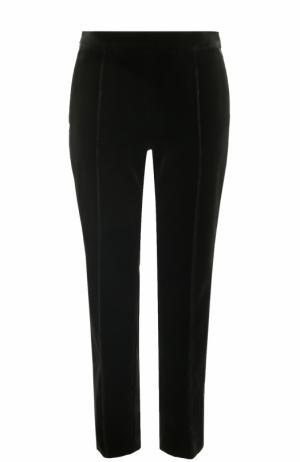 Укороченные бархатные брюки прямого кроя Lanvin. Цвет: черный