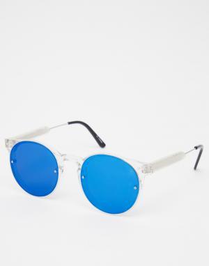 Spitfire Круглые солнцезащитные очки с зеркальными стеклами Post Punk. Цвет: прозрачный