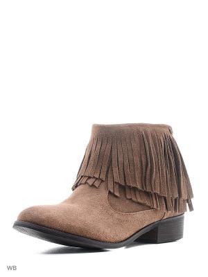 Ботинки Carmela. Цвет: темно-бежевый