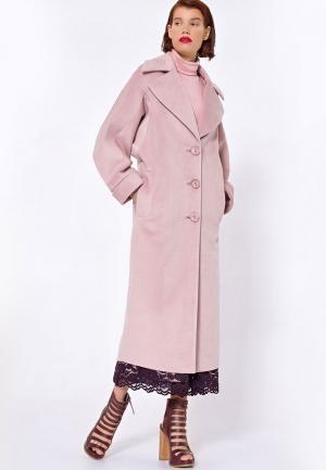Пальто JN. Цвет: розовый