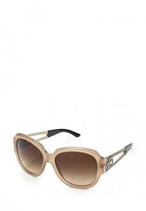Очки солнцезащитные Versace. Цвет: бежевый