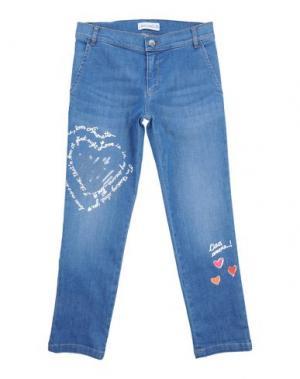 Джинсовые брюки SIMONETTA. Цвет: синий