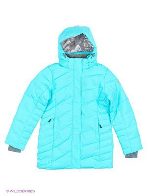 Куртка удлиненная High Experience. Цвет: голубой
