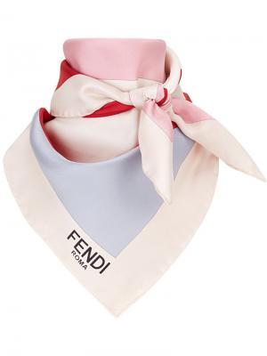 Платок с логотипом Fendi. Цвет: многоцветный