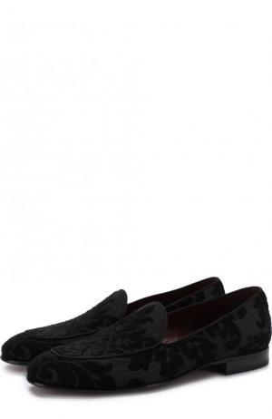 Текстильные слиперы Lukas Dolce & Gabbana. Цвет: черный