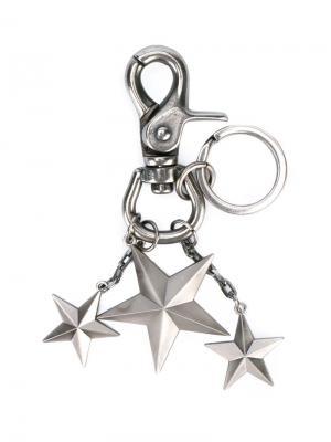 Брелок со звездами Sophnet.. Цвет: металлический
