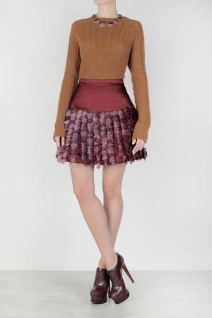 Шелковая юбка Christopher Kane. Цвет: бордовый