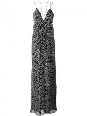 Вечернее платье на бретельках Galvan. Цвет: чёрный