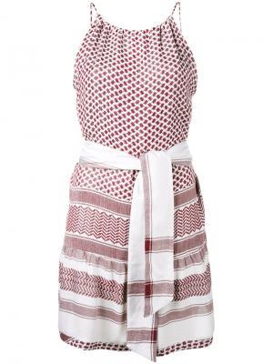 Платье на бретелях Keffiyeh Cecilie Copenhagen. Цвет: красный