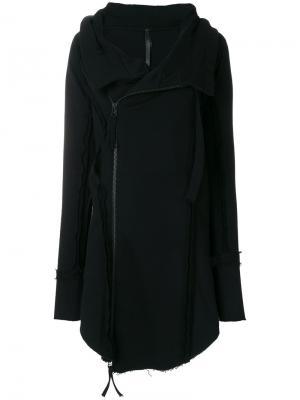 Свободный свитер на молнии Barbara I Gongini. Цвет: чёрный