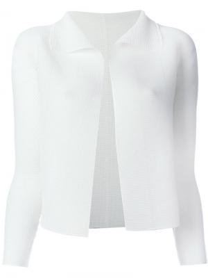 Пиджак без застежки Issey Miyake Cauliflower. Цвет: белый