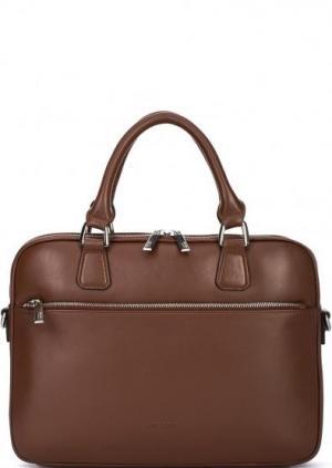 Кожаная сумка с отделением для планшета Picard. Цвет: коричневый