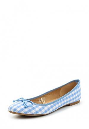 Балетки Catisa. Цвет: голубой