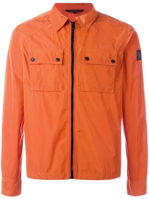 Куртка на молнии Belstaff. Цвет: жёлтый и оранжевый