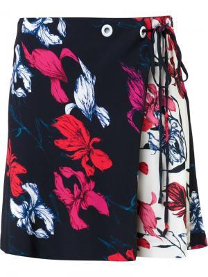 Мини-юбка с цветочным принтом Thakoon. Цвет: чёрный