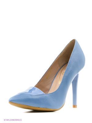 Туфли Moda Donna. Цвет: голубой