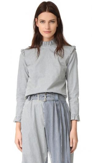Блуза с Ноэль Rejina Pyo. Цвет: светлая полоска