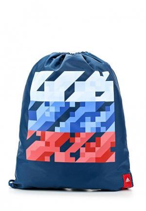 Мешок adidas. Цвет: синий